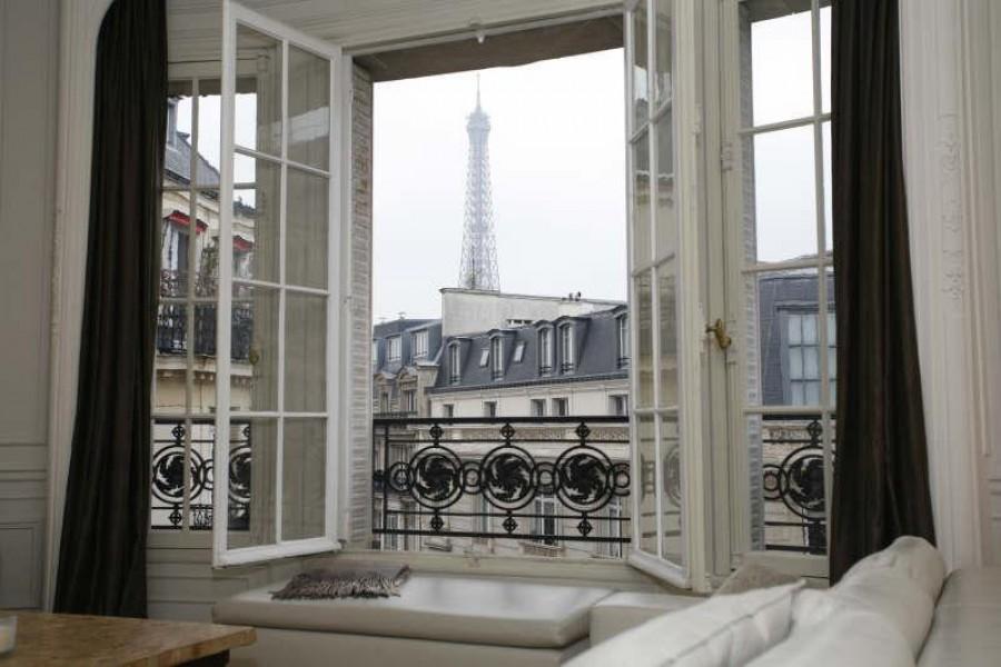 A vendre appartement haussmannien paris avec vues sur la tour eiffel moulin - Appartement haussmannien paris ...