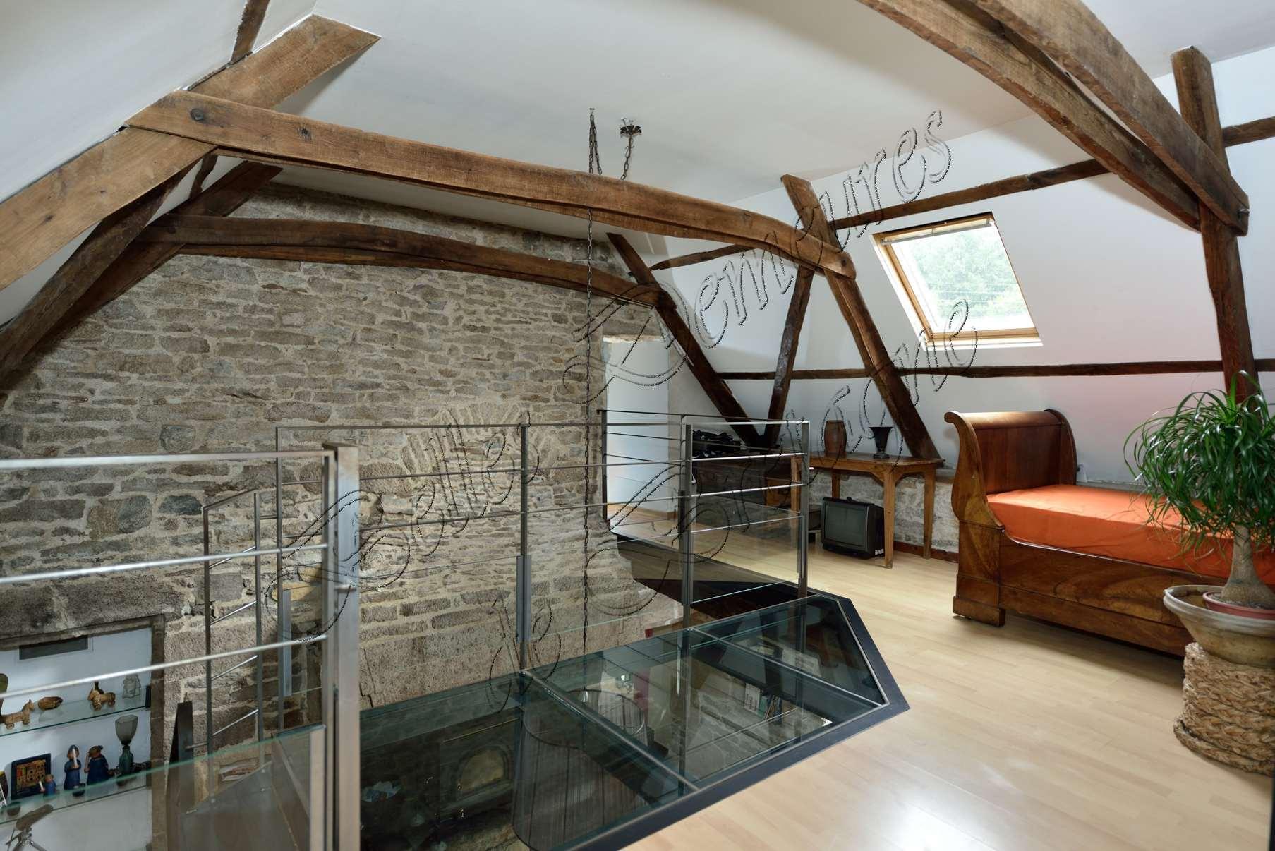 Te koop mooie stenen huis met zwembad zuid finist re bretagne moulin - Stenen huis uitbreiding ...