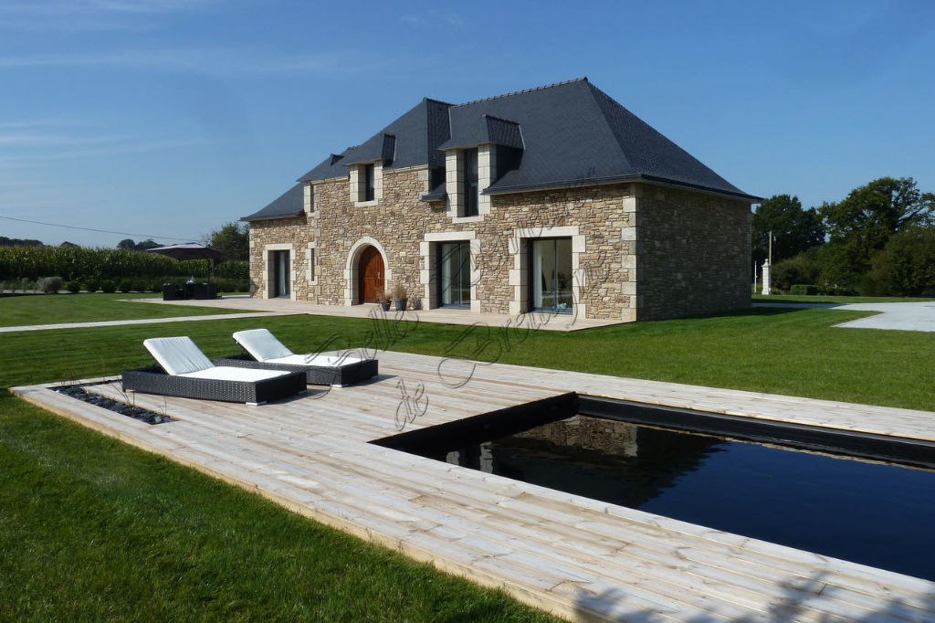 Te koop mooie woning met karakter en zwembad, Morbihan, Bretagne ...