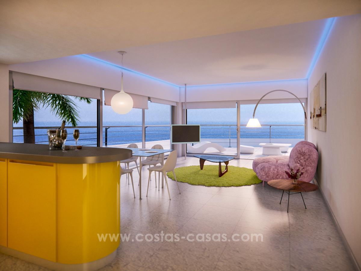 New luxury modern penthouses apartments benalmadena costa del sol
