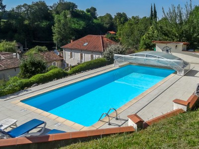 Charming property for sale on 2 2 ha with heated pool b b for Heated pools for sale