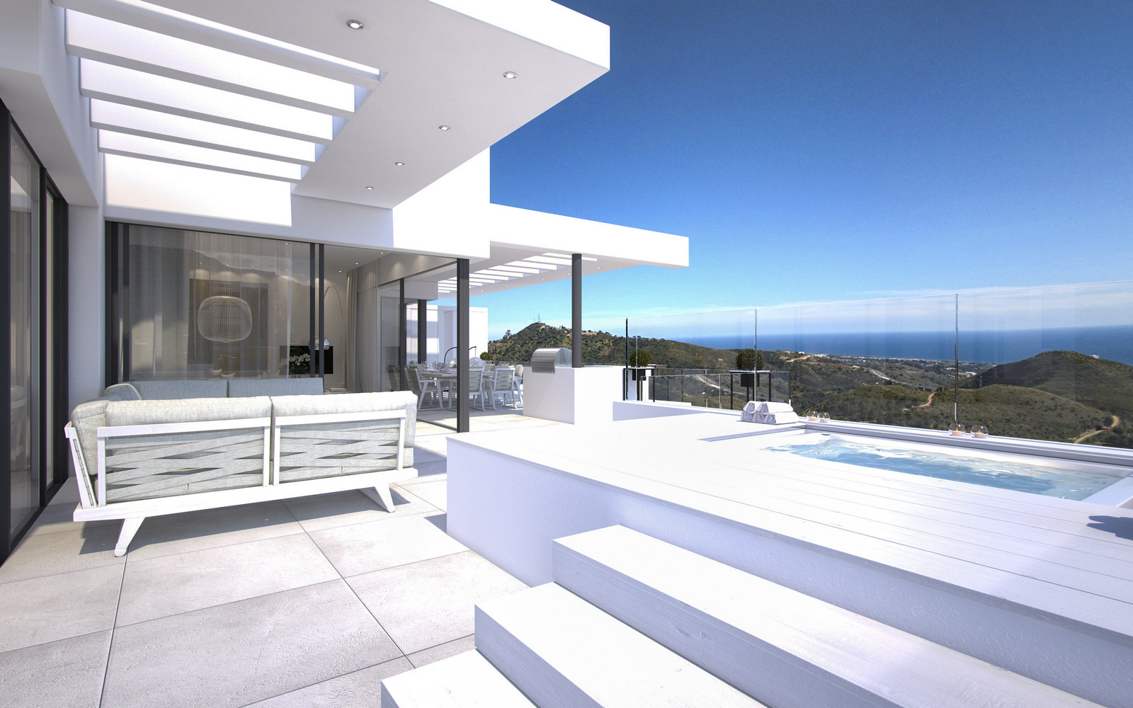 Modern luxury apartment sea view few minutes from marbella center