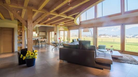 Magnifique chalet d 39 architecte de 4 chambres taninges for Chalet d architecte