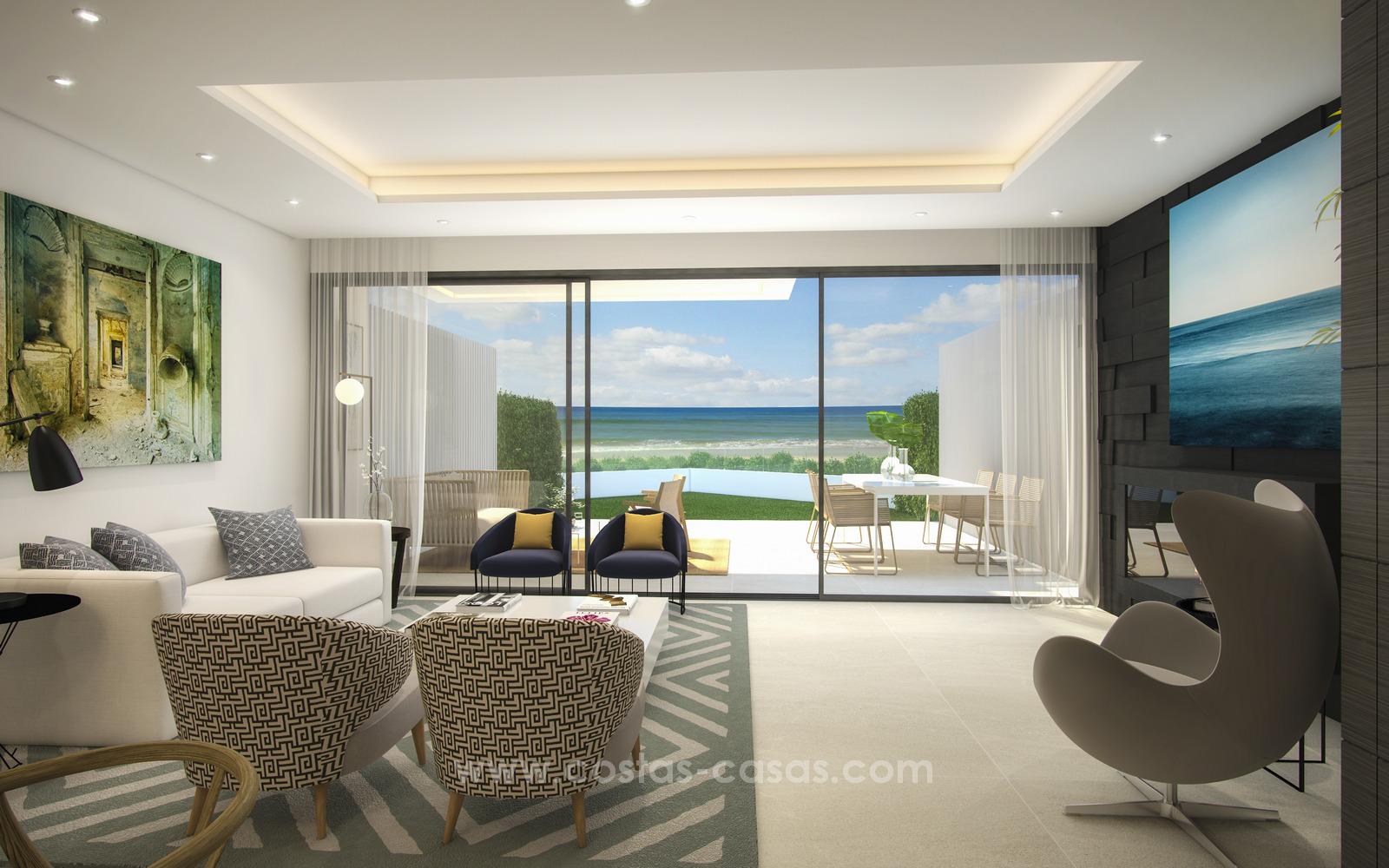 Modern luxury terraced houses on the seafront near estepona moulin