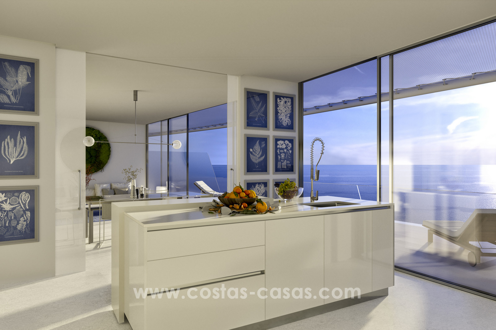 Spectacular modern luxury frontline beach apartments estepona moulin