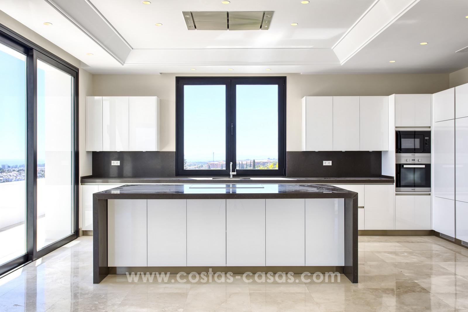 Modern new villa for sale with sea view benahavis marbella area
