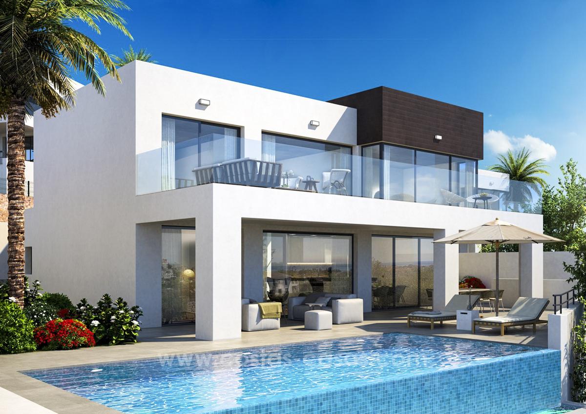nieuwe moderne villas met zeezicht in cala de mijas costa del sol moulin. Black Bedroom Furniture Sets. Home Design Ideas