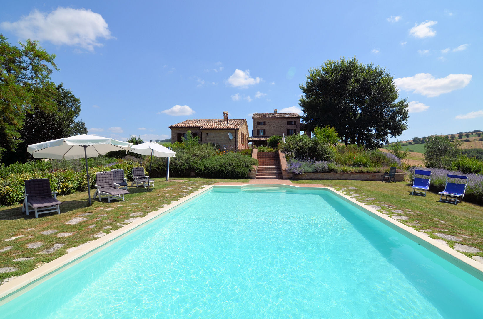 Restored farmhouse with guesthouse pool and garden for for Garden pool for sale