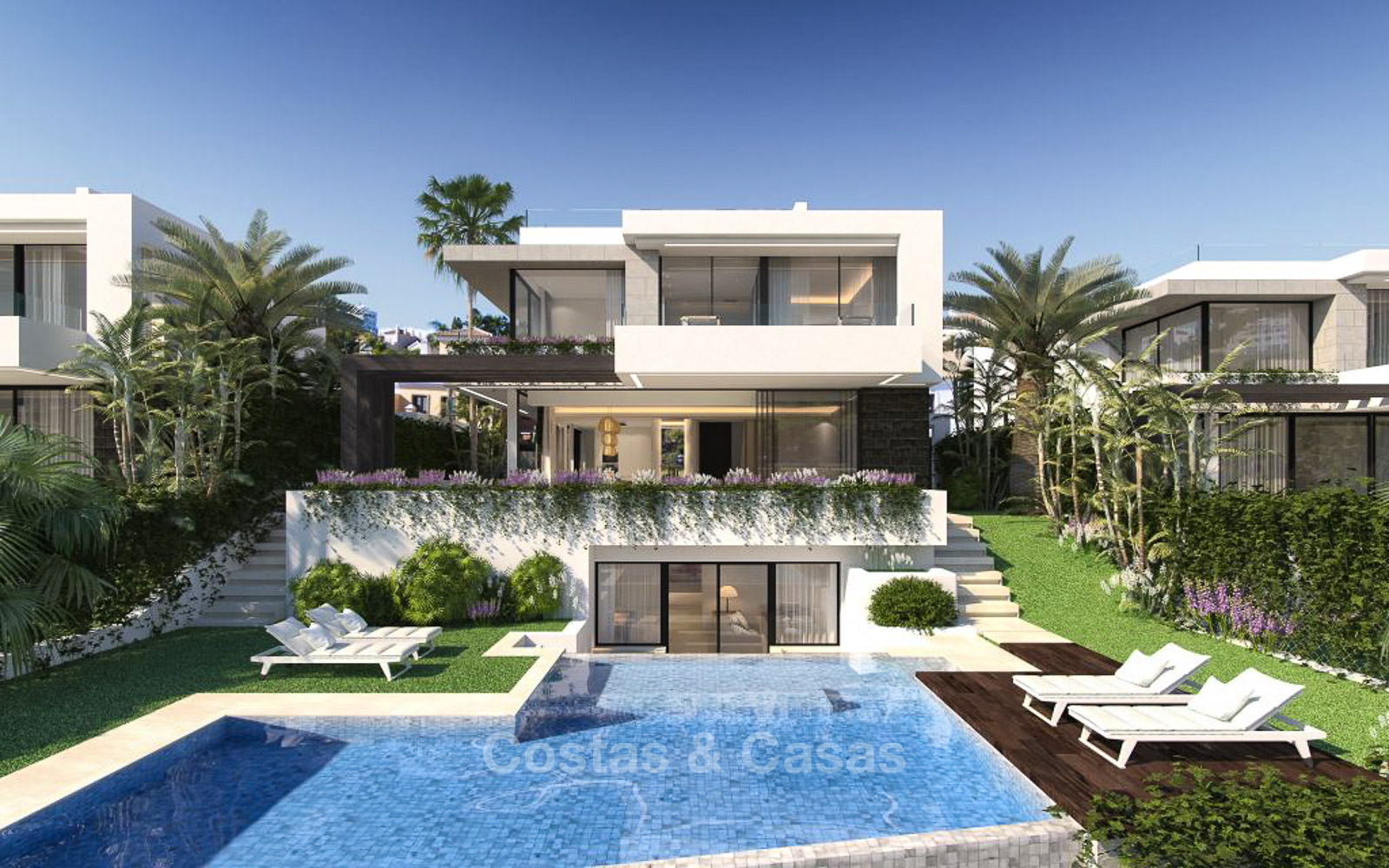 New contemporary modern luxury villas for sale in a new boutique development in estepona marbella moulin