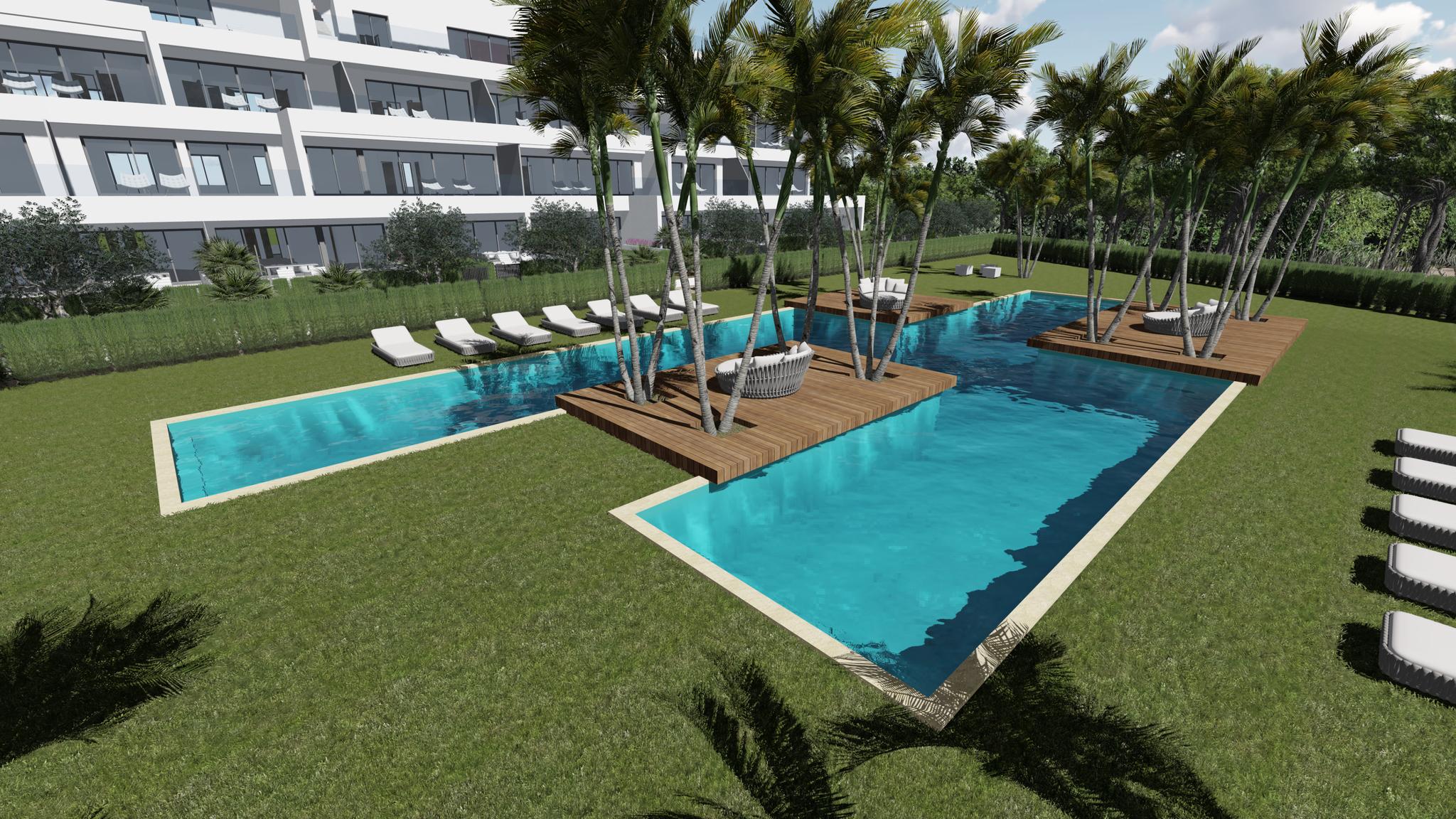 Nieuwbouw villa te koop met gemeenschappelijk zwembad moulin for Te koop inbouw zwembad