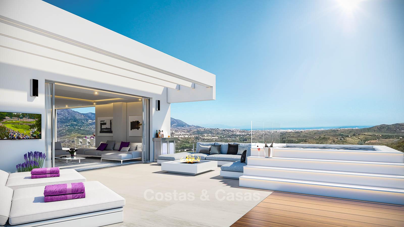 Appartements Neufs Et Modernes Avec Vue Mer à Vendre Dans Un Centre De  Vacances Luxueuse De Golf   La Cala, Mijas, Costa Del Sol | Moulin