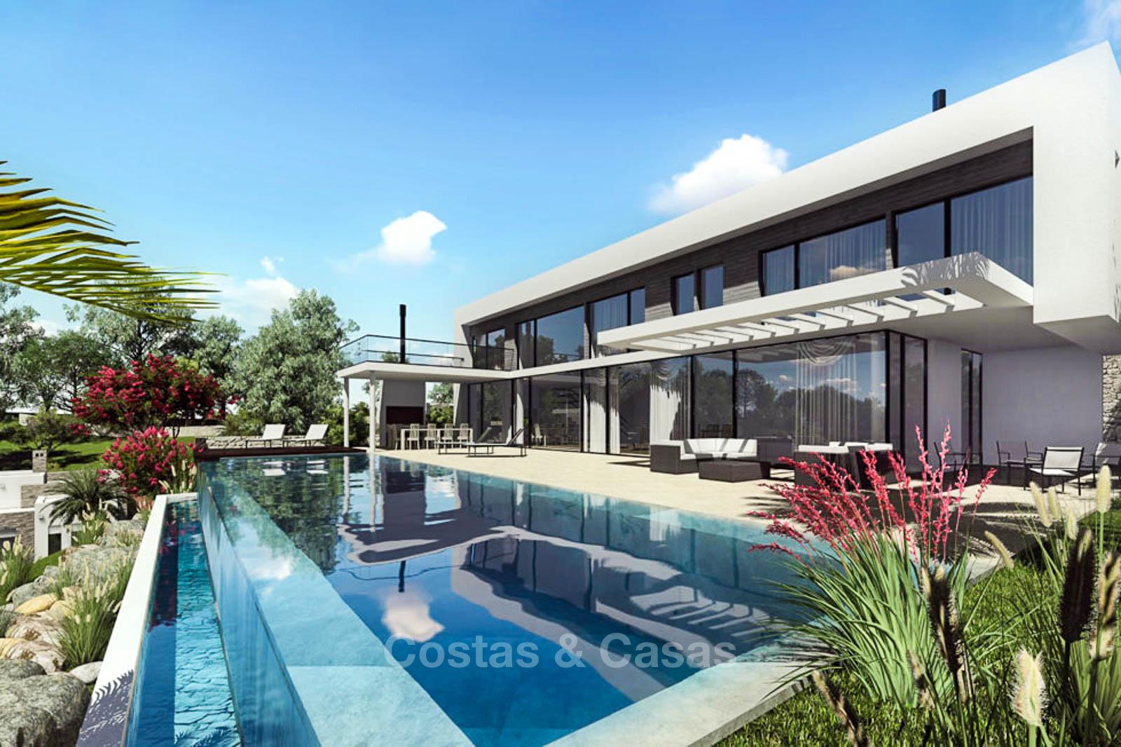 Villa de luxe moderne avec une vue imprenable sur la mer à vendre ...