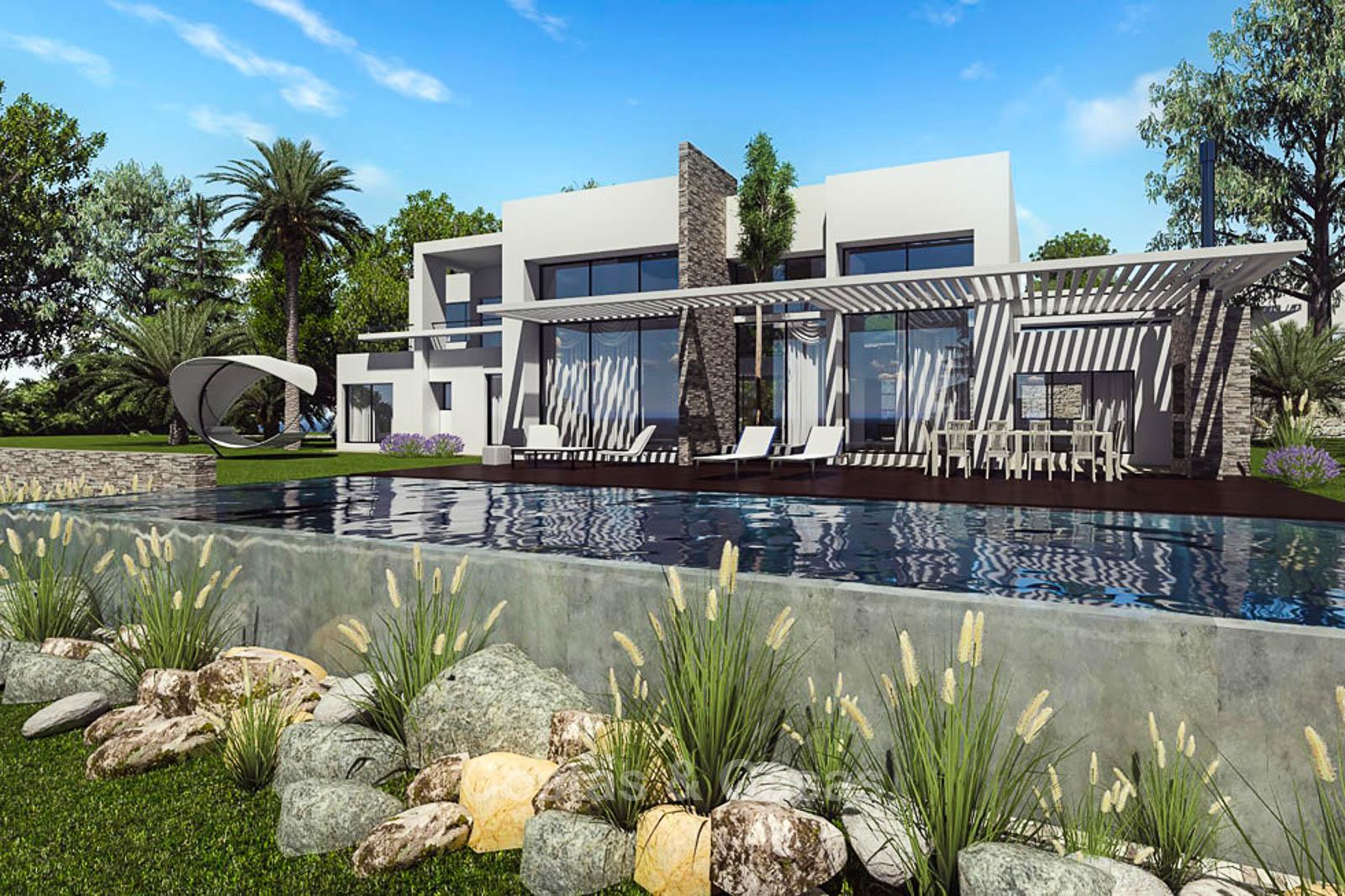 Villa de luxe moderne et écologique avec vue sur la mer à vendre ...