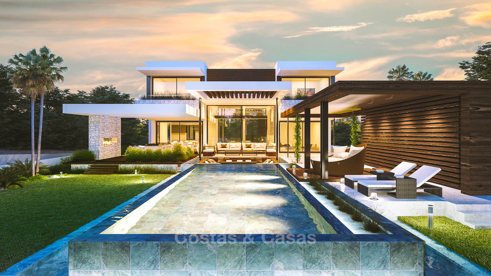 Spectacular contemporary style luxury villa for sale moulin