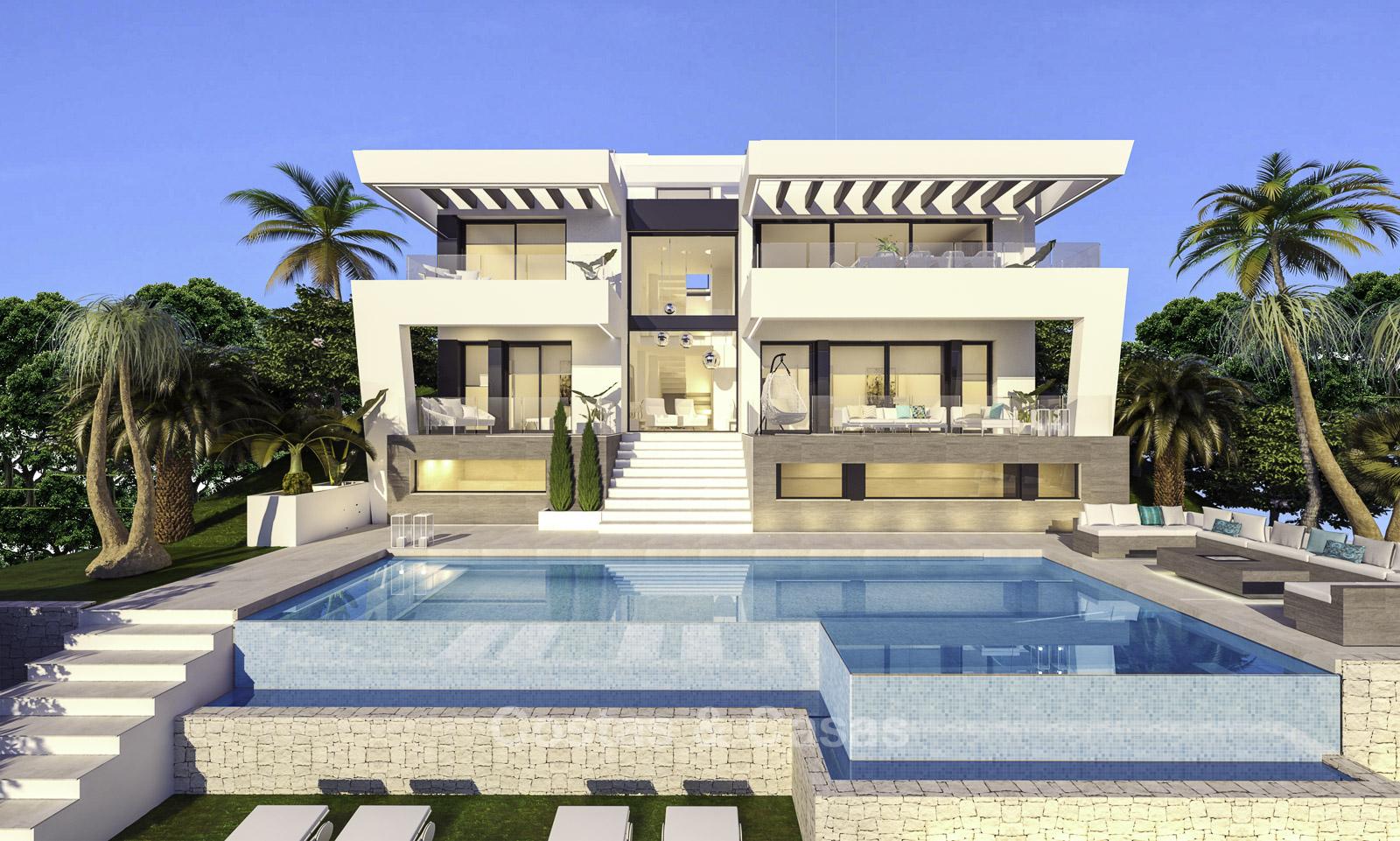 Ravissante villa de luxe moderne sur un terrain de golf à vendre Mijas