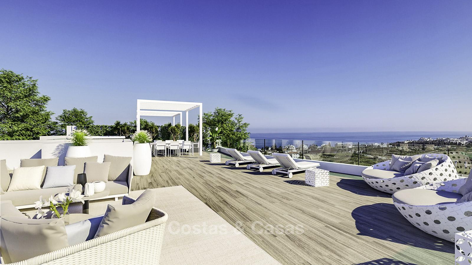 Elegantes Y Modernos Apartamentos Y áticos Con Impresionantes Vistas Al Mar En Venta A Poca Distancia De La Playa En Estepona